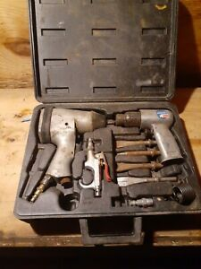 Vintage Campbell Hausfeld 2pc Set 1 2 Impact Wrench And Air Hammer