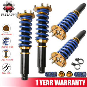 4x Coilover Shocks Absorbers Struts Adjustable For 2008 2012 Honda Accord Acura