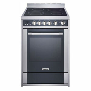 Magic Chef Mcsre24s Stainless Steel Electric Range With Convection And 4 Burners