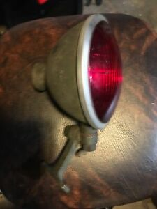 Vintage S M Red Glass Spot Light Stop Light Police Military Auto Boat
