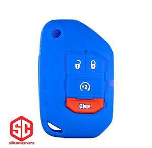 1x New Key Fob Remote Fobik Silicone Cover Fit For Jeep Gladiator Wrangler