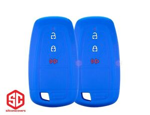 2x New Keyfob Remote Fobik Silicone Cover Fit For Select Ford Vehicles
