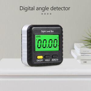 Magnetic Digital Inclinometer Angle Finder Protractor n spirit Bubble Us4