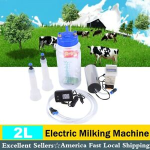 Portable Electric Milking Machine With Pulse Controller 2l Bottle Vacuum Pump