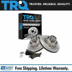 Trq Front Disc Brake Rotors Posi Ceramic Pads Kit For Buick Cadillac Chevy Gmc