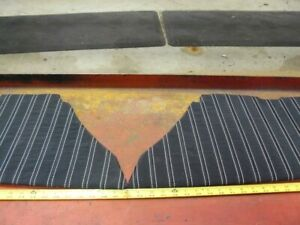 1959 Plymouth Sports Fury 2 Dr Rear Int Door Panels Pair Black Silver Th