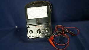 Simpson Model 260 Analog Meter Multimeter W Leads Ser 5293 3 day Refund