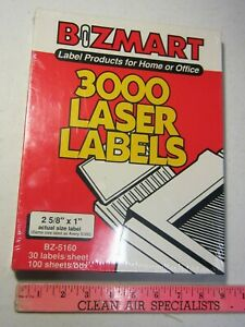 3000 White 1 x2 5 8 Laser Printer Address Shipping Labels 100 Sheets Avery 5160