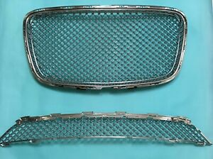 Front Upper lower Grille All Chrome Bentley Style For 15 16 Chrysler 300 300c
