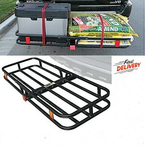 Steel Folding Rack Cargo Basket Trailer Hitch Mount Luggage Carrier Suv Car