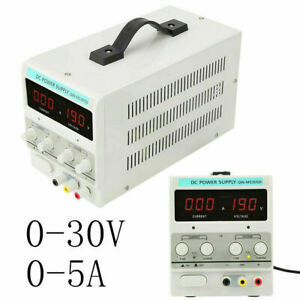Power Supply 30v 5a 110v Precision Variable Dc Digital Adjustable Lab With Cable