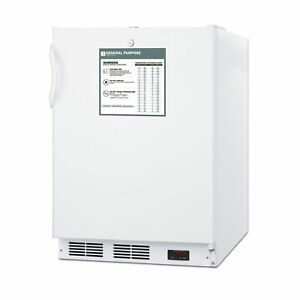 Accucold Vt65mlbiadagp One Section Solid Door Undercounter Freezer 3 5 Cu Ft