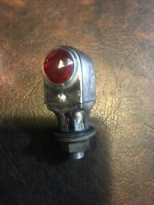Large Vintage Jewel Cut Fender Marker Light Accessory Harley Rat Rod