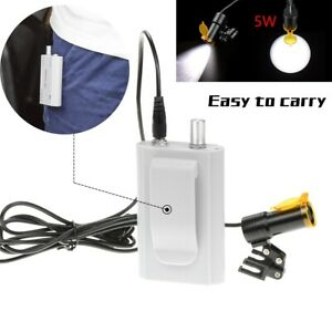 5w Dental Led Headlight With Filter belt Clip For Loupes Insert Type Silver