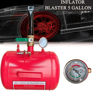 Portable 5 Gallon Blaster Tire Bead Seater Air Tank Seating 145psi Inflator Tyre