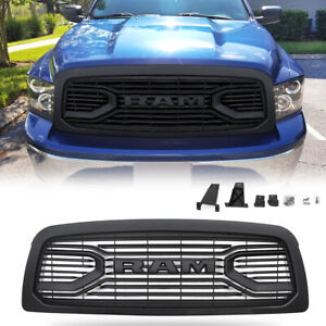 Grille For 2009 2012 Dodge Ram 1500 With Letters Black Big Horn