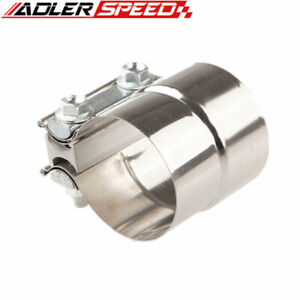 Adlerspeed 2 5 Stainless Steel Torctite Exhaust Band Clamp Step Clamp Lap Joint
