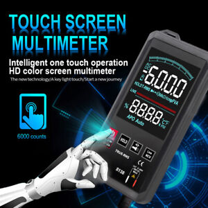 Touch Screen Multimeter Digital Ohmmeter Multi Tester Ac Dc Voltmeter True Rms