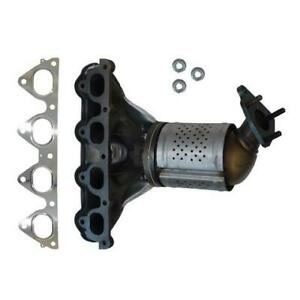 Catalytic Converter With Integrated Exhaust Manifold For 2000 Honda Civic