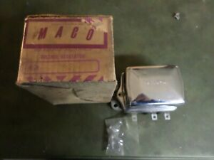 Delco Remy Voltage Regulator 1119264d With Chrome Cover 1957 Chevy Maybe