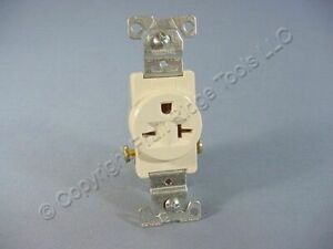New Cooper Light Almond Commercial Single Outlet Receptacle 6 20 250v 20a 1876la