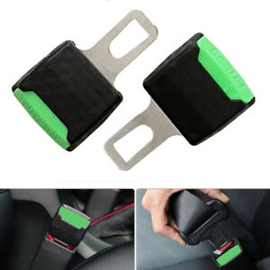 Green Safety Seat Belt Buckle Extension Extender Clip Alarm Stopper Universal