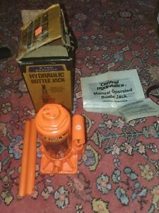 Used Central Hydraulics 6 Ton Bottle Jack In Worn Box