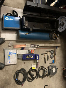 Miller Maxstar 161 Stl Tig And Stick Welder With Case Tank Huge Lot Xtras