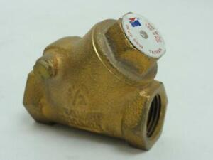 154374 Old stock Milwaukee Valve 510 t 1 2 Swing Check Valve 1 2 Npt