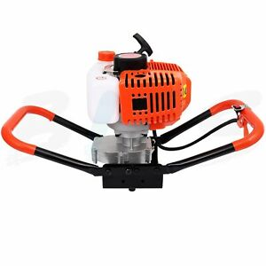 52cc Gas Powered Earth Auger Power Engine Post Hole Digger And Drill Bit