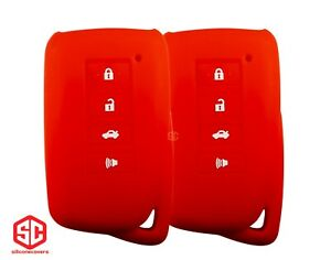 2x New Keyfob Remote Fobik Silicone Cover Fit For Select Lexus Vehicles