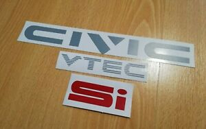 Civic Ed Ef Ee civic Vtec si Decal Fits 88 91 Rear
