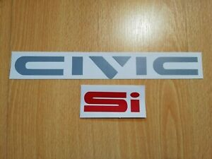 Civic Ed Ef Ee civic si Decal Fits 88 91 Crx Rear