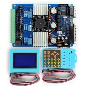 New 3axis Cnc Stepping Driver Tb6600hg Set Lcd Display Handle Controller 0 2 5a