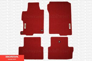 Genuine Honda Red Hfp Floor Mats set Of 4 Fits 2013 2017 Accord 2dr Coupe V6