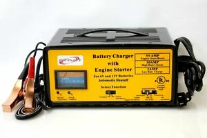 55 Amp Engine Starter Boost 10 Amp 12 Volt Auto Battery Charger W Automatic Stop