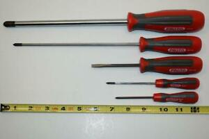 New 5pc Proto Plus Made In England Phillips And Slotted Screwdriver Set Bb