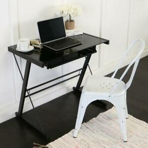 Drawer Computer Desk With Keyboard Tray 31 In Black Rectangular
