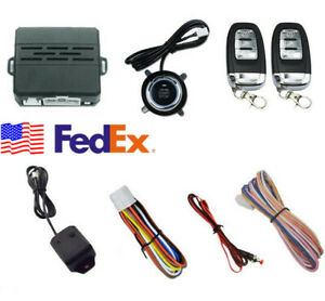 D7 Car Suv Alarm System Security Ignition Engine Start Push Button Remote Kit Us