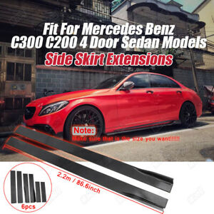 Fit For Mercedes Benz E C Class C250 C300 W204 W205 Sporty Side Skirt Extensions
