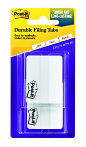 Post it Tabs 2 In Solid White 25 Tabs on the go Dispenser 2 Dispensers pack