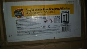 1 Box Of 4 1gal Pails New Acrylic Water Base Bonding Adhesive For Epdm