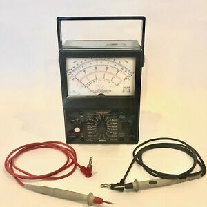 Simpson 260 Series 6xl Volt ohm milliammeter Multimeter Leads Included