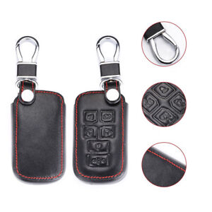 Leather 6 Buttons Car Remote Key Bag Cover Case Fob For Toyota Sienna 1998 2018