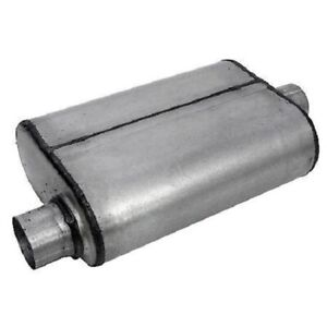 Thrush 17656 Welded Muffler 2 5in Offset Inlet 2 5in Centered Outlet 19in Long