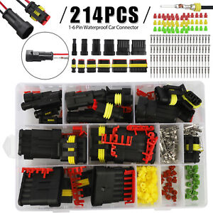 1 2 3 4 5 6 Pin Car Trucks Sealed Waterproof Electrical Wire Connector Plug Kit
