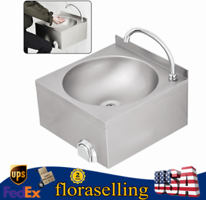Hand Washing Sink Commercial Stainless Steel Countertop Bowl Basin W faucet New