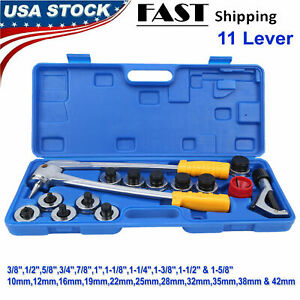 11 Lever Tube Tubing Expander Tool Swaging Kit Copper Piping pipe Hvac Tool