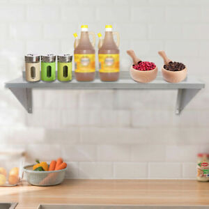 30 91cm Stainless Steel Wall Shelf For Home Kitchen Wall mounted Solid Rack New