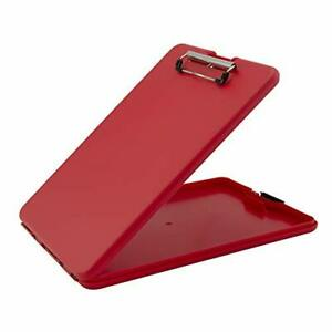 Slimmate Letter Size Storage Clipboard Polypropylene Red Red